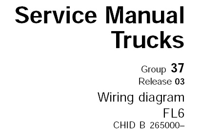 volvo fl6 truck wiring diagram service manual (nov. 2003) – service manual  download  service manual download