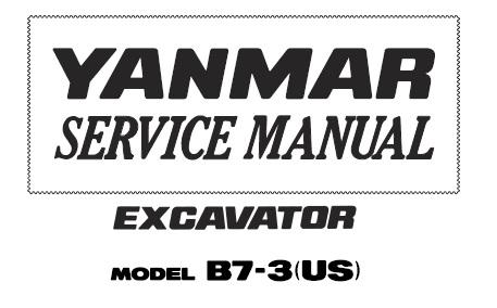 Yanmar excavator operation & maintenance manual.
