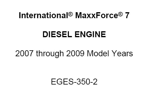 International MaxxForce 7 Series Diesel Engine Diagnostic