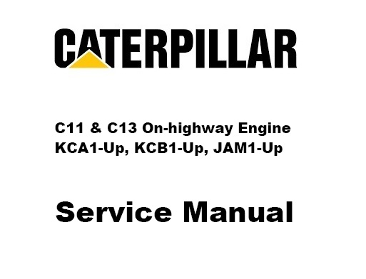 Caterpillar C11 And C13 On Highway Engine Complete Service