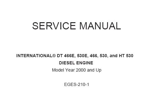 [NRIO_4796]   Navistar International DT466, DT466E, DT530, DT530E and HT530 Diesel Engines  Service Repair Manual – Service Manual Download | International 466t Engine Coolant Diagram |  | Service Manual Download