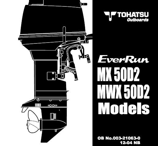 Tohatsu Mx50d2   Mwx50d2 Everrun Outboards Service Repair
