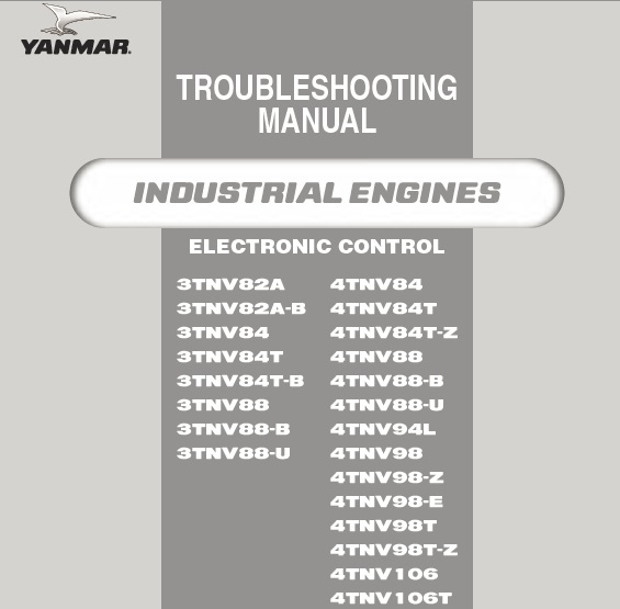 YANMAR 3TNV , 4TNV SERIES DIESEL ENGINES TROUBLESHOOTING