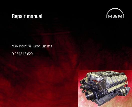 Man D2842 Le620 Series Industrial Diesel Engine Service