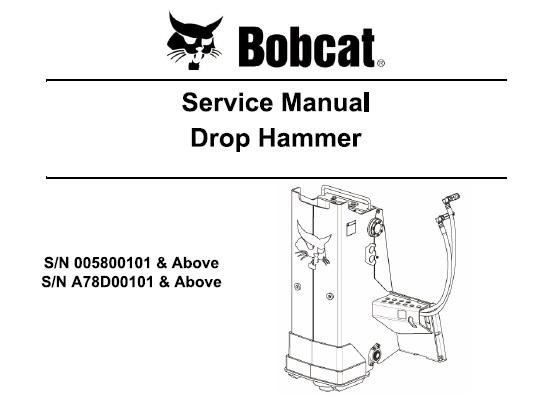 Bobcat Drop Hammer Service Repair Manual  U2013 Service Manual