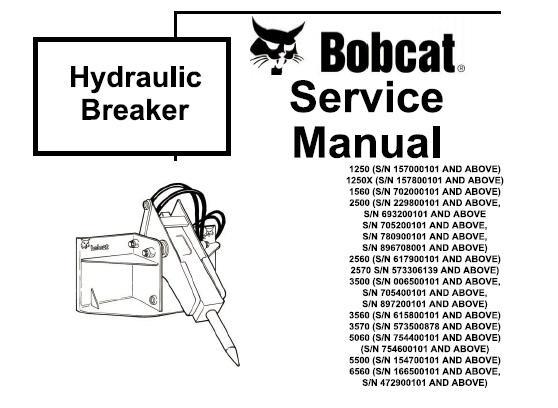 Bobcat Hydraulic Breaker Service Repair Manual  U2013 Service