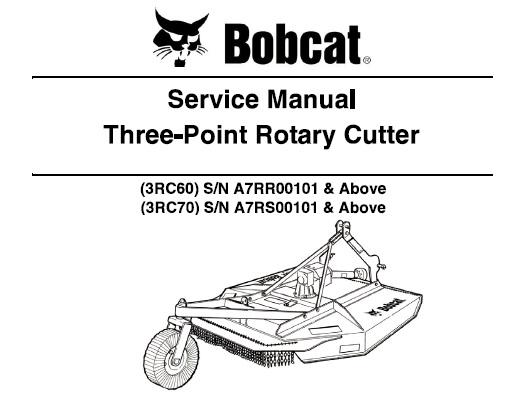 Bobcat 3rc60 3rc70 Three