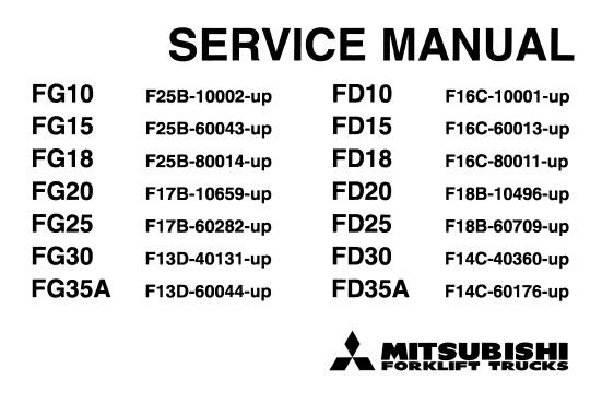 Tcm fg20 service manual