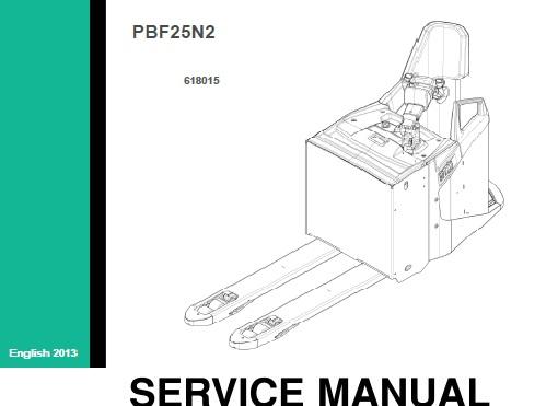 Mitsubishi Pbf25n2 Pallet Truck Service Repair Manual