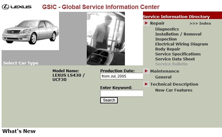 Lexus Ls430  Ucf30 Series  Service Repair Manual  U0026 Ewd