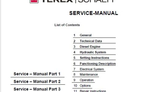 Terex  U2013 Service Manual Download