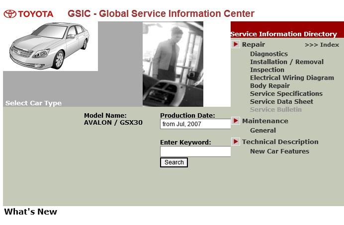 Toyota Avalon Gsx30 Service Repair Manual Ewd 2005 2013 Service Manual Download