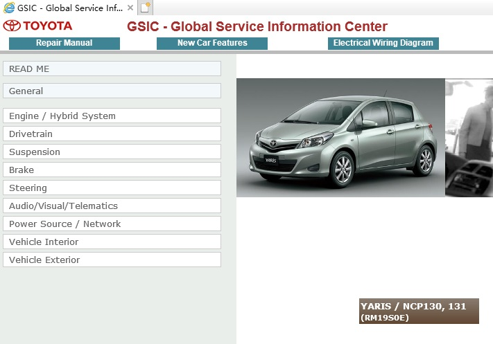 Toyota Yaris Ncp130 Ncp131 Service Repair Manual Ewd 2011 20xx Service Manual Download