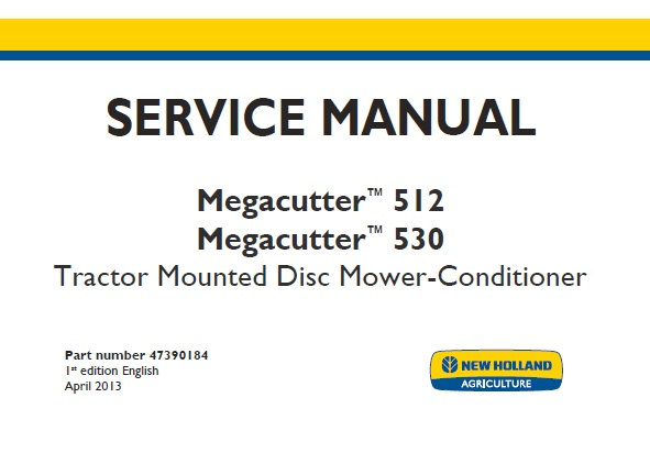 New Holland Megacutter 512  Megacutter 530 Tractor Mounted