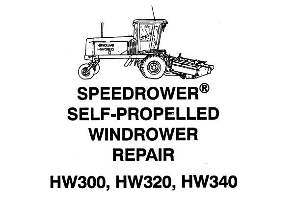new holland hw300   hw320   hw340 speedrower self
