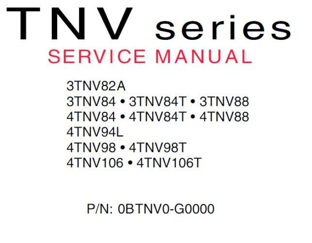 Yanmar Industrial Engines 3tnv U0026 4tnv Series Service Manual Guide