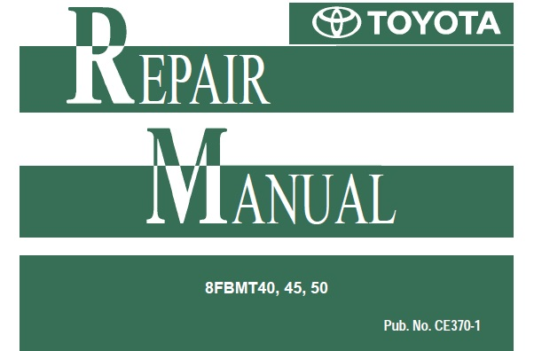 Toyota 8fbmt40  45  50 Forklift Service Repair Manual